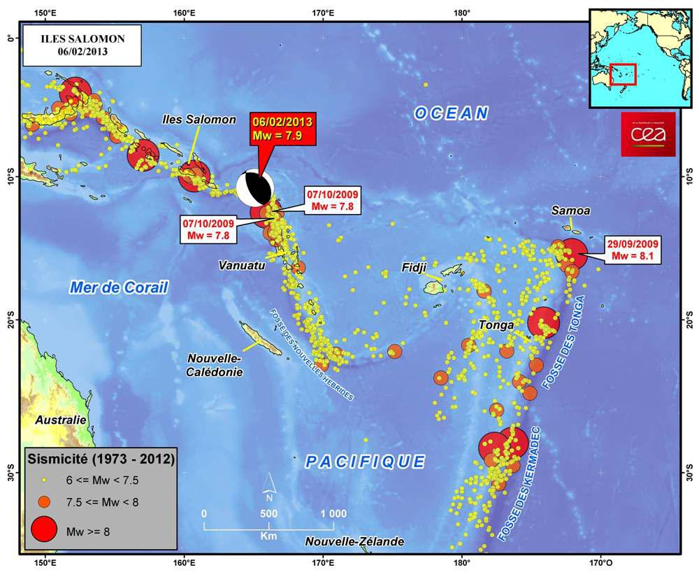 Cea dam figure 1 map showing location of the earthquake of 6 february 2013 and seismicity 1973 2012 of the solomon islands vanuatu fiji samoa and tonga gumiabroncs Gallery